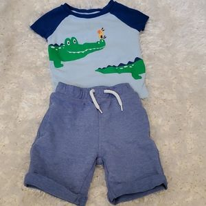 18 month boy shorts and 24 month shirt set